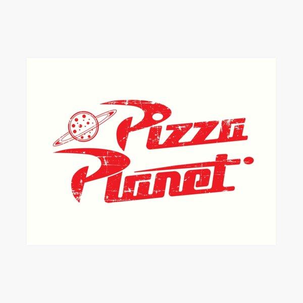 Logotipo de Pizza Planet Lámina artística