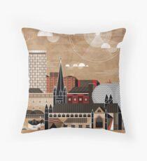 Brum Cityscape Throw Pillow
