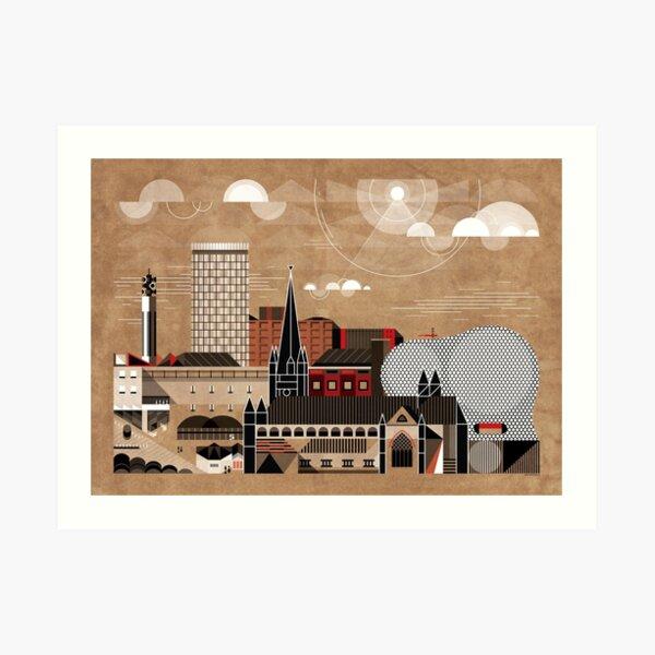 Brum Cityscape Art Print