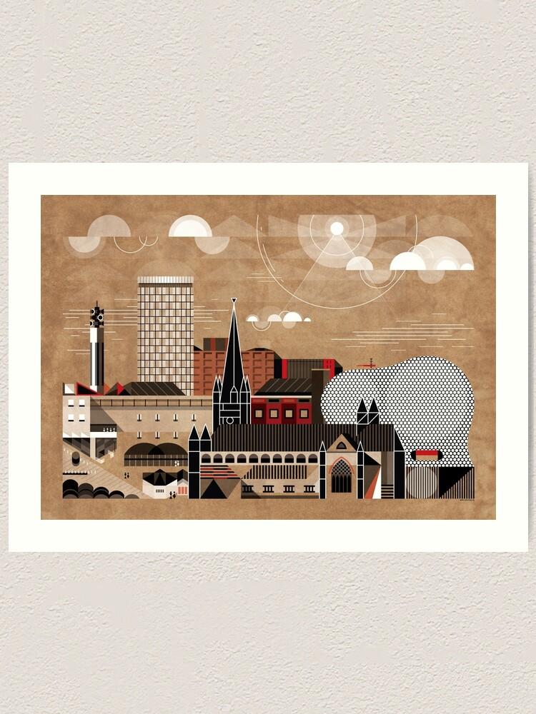 Alternate view of Brum Cityscape Art Print
