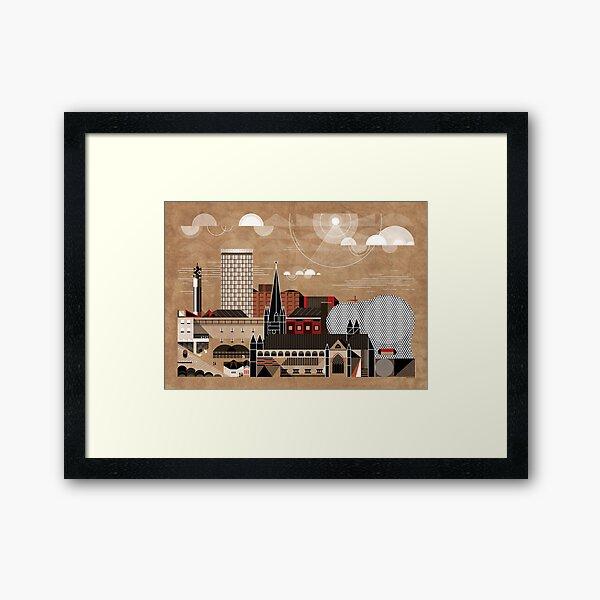 Brum Cityscape Framed Art Print