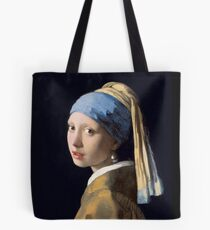 "Johannes Vermeer ""Girl with a Pearl Earring"" Tote Bag"