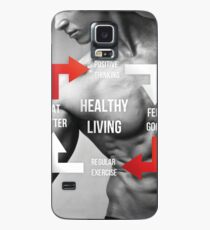 Healthy Living - Fitness Inspirational Infographic Case/Skin for Samsung Galaxy