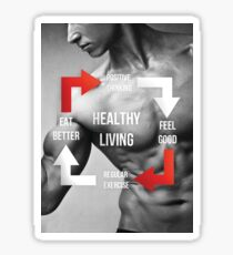 Healthy Living - Fitness Inspirational Infographic Sticker