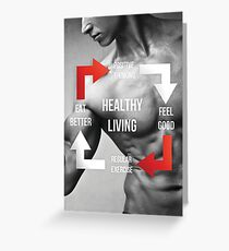 Healthy Living - Fitness Inspirational Infographic Greeting Card