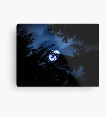 HAPPY HALLOWEEN MOON Metal Print