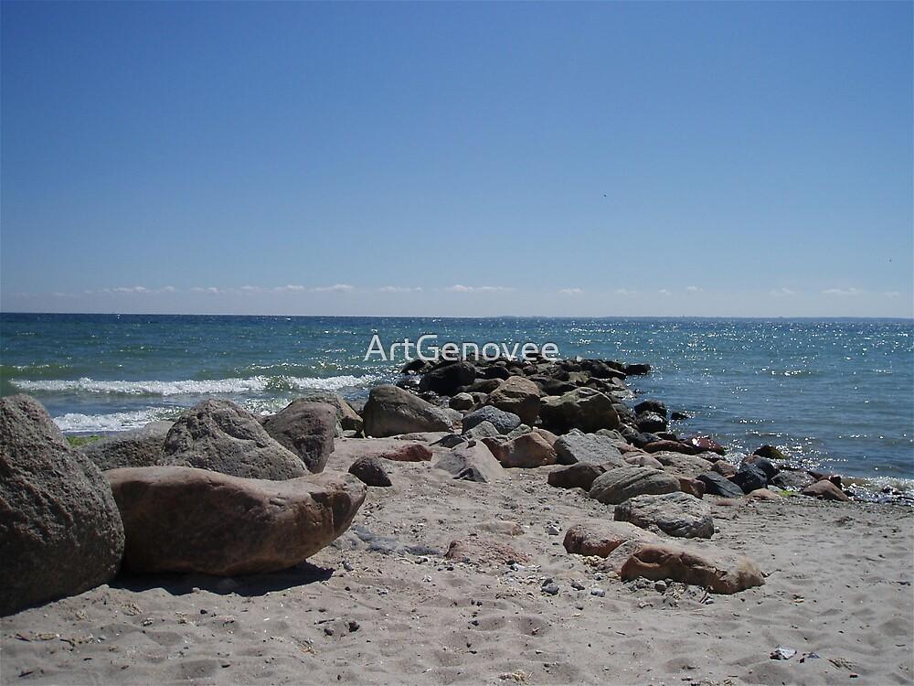 Rocks Meet Ocean by ArtGenovee
