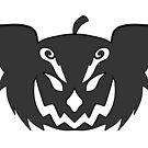 Red Panda Logo- Halloween by metaliamart