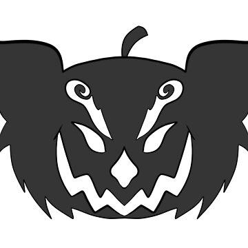 Red Panda Logo- Halloween by metaliamart