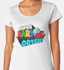 Super Mario Odyssey Stylised Logo  Women's Premium T-Shirt