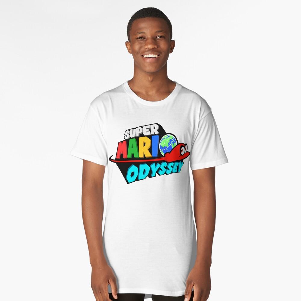 Super Mario Odyssey Stylised Logo  Long T-Shirt Front