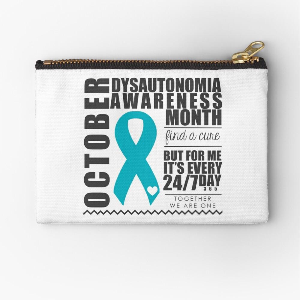 October - Dysautonomia Awareness Month | Zipper Pouch