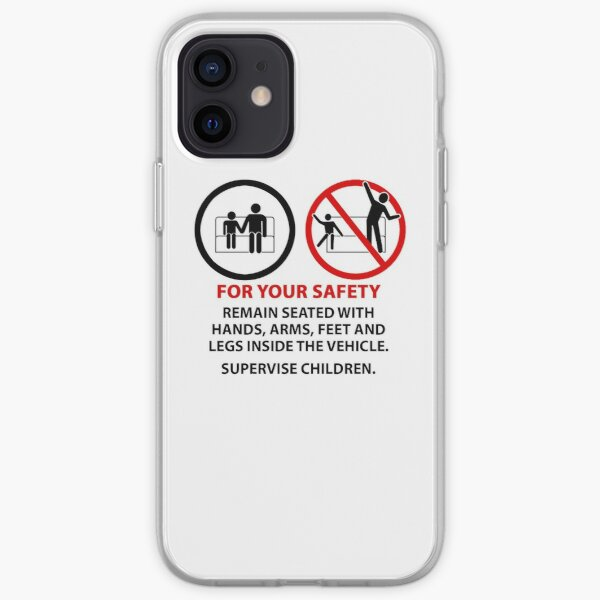 For Your Safety - No Dancing Warning (Stacked) iPhone Soft Case