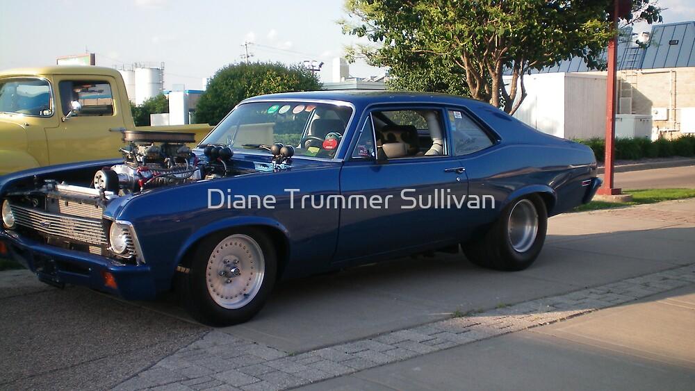 Beautiful F A S T 1970 Blue NOVA by Diane Trummer Sullivan