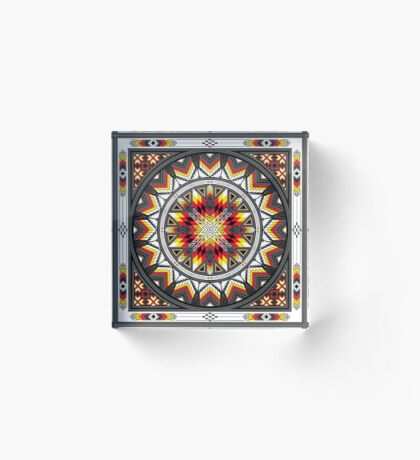 Sacred Places Red Acrylic Block