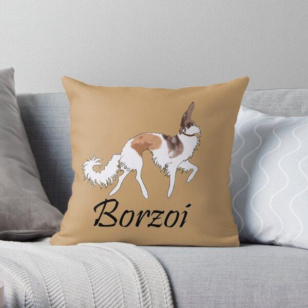 Sable Borzoi Throw Pillow