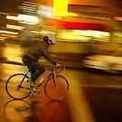 Night biker. by Andrew Ferguson