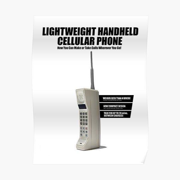 1980's Series Retro Mobile Phone Poster