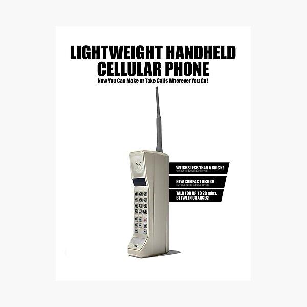 1980's Series Retro Mobile Phone Photographic Print