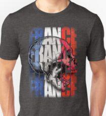 France Skull Flag Unisex T-Shirt