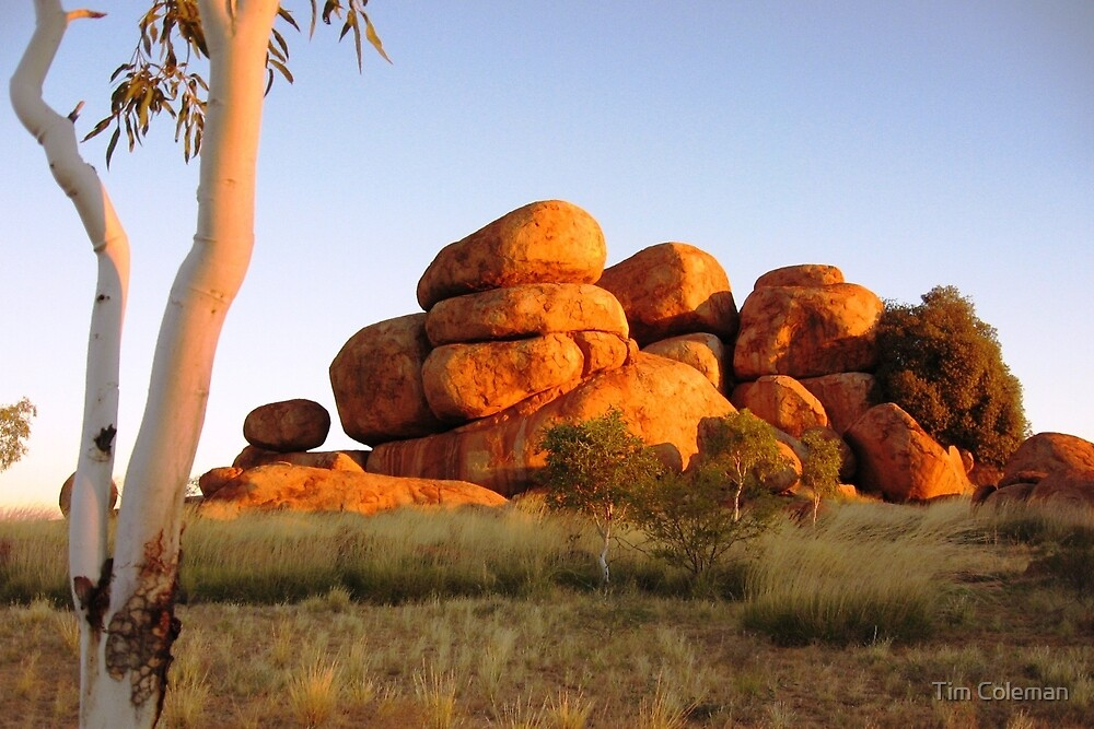 Quot Sunset Colours On The Devil S Marbles And Ghost Gum Quot By