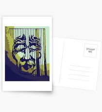 Striped Mask Postcards