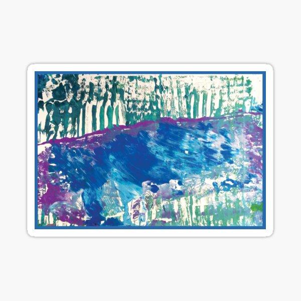 Blue Stream - by Riley Sticker