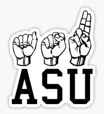 ASU Sign Language Sticker