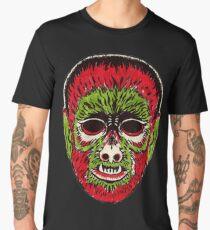 Wolfman Vintage Halloween Mask Men's Premium T-Shirt