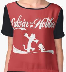 Calvin and Hobbes COKE Chiffon Top