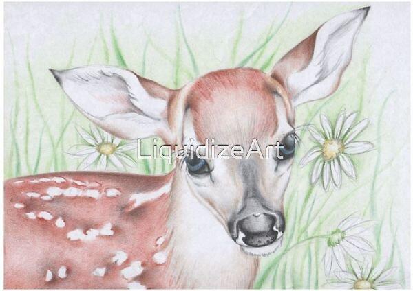 Deer Drawing by LiquidizeArt
