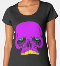 JAWLESS PURPLE SKULL - Art By Kev G Women's Premium T-Shirt