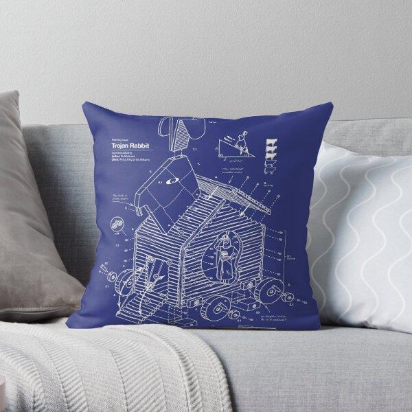 Trojan Rabbit Throw Pillow