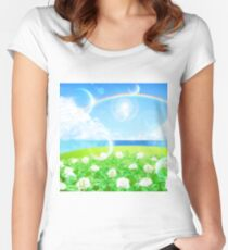 Rainbow field Women's Fitted Scoop T-Shirt