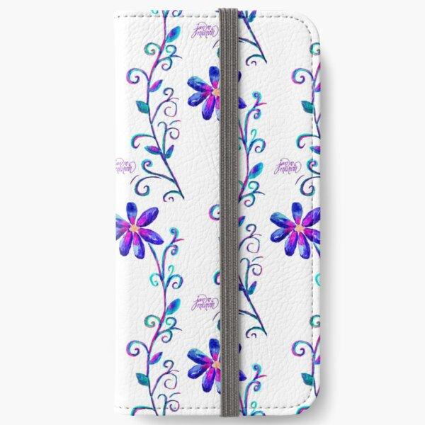 Tall Purple Flower iPhone Wallet