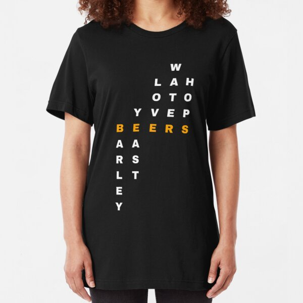 What do they put in beers? (white letters) Slim Fit T-Shirt