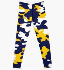 Blue & Yellow Camo II Leggings