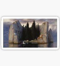 Isle of the Dead by Arnold Bocklin Sticker