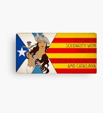 Catalunya Scotland Independence Solidarity Canvas Print