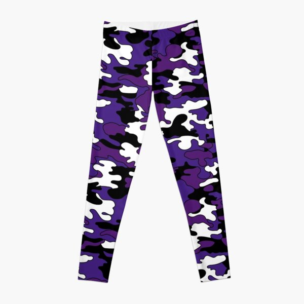 Purple Detailed Camo Leggings