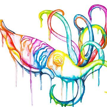 Colorful little Cuttlefish by SchwaigerStudio