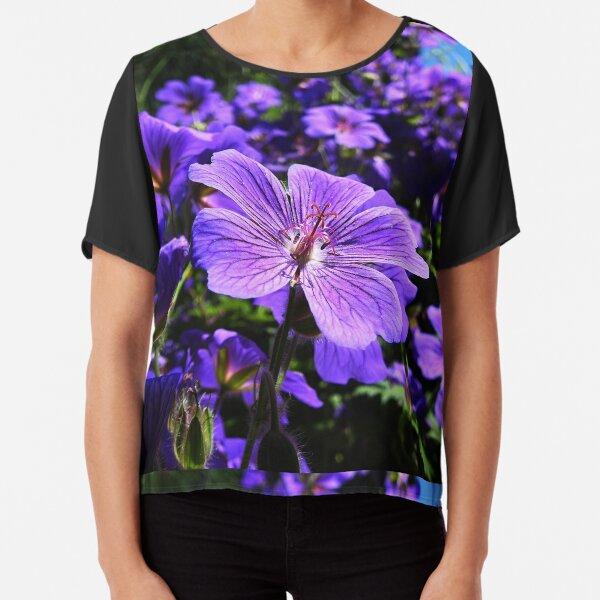 Clematis Flower Chiffon Top