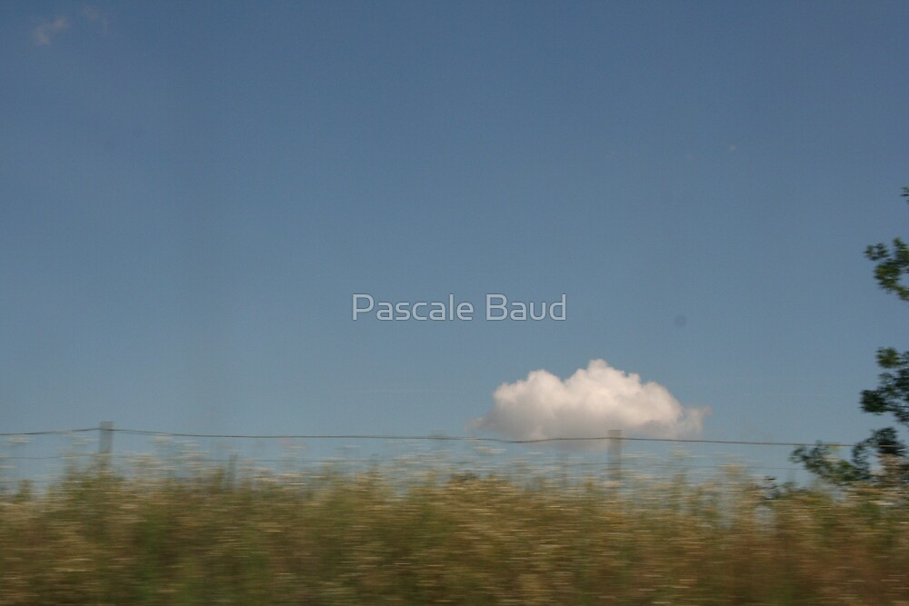 A little cloud between... by Pascale Baud