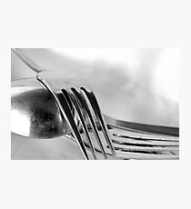 fork + fork + spoon Photographic Print