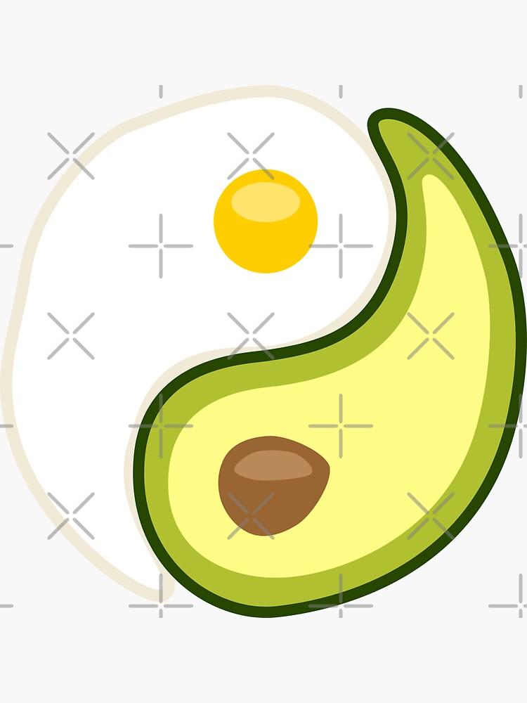 Avocado Egg Yin Yang by lurchmerch