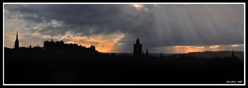 Edinburgh Skyline by Chris Clark