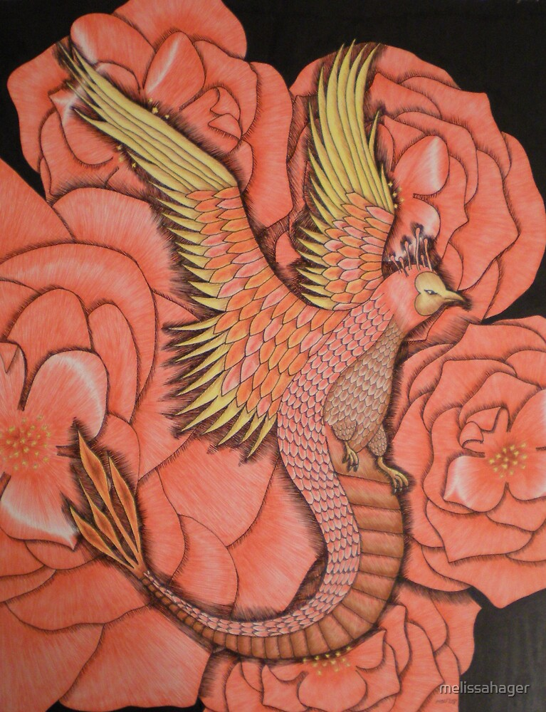 Phoenix with Roses by melissahager