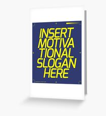 Insert greeting cards redbubble motivational slogan greeting card m4hsunfo