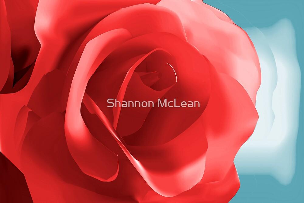 Digital Painted Red Rose by shanmclean