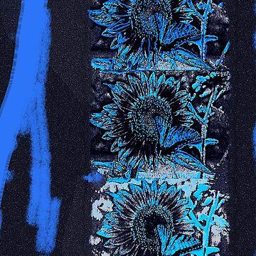 Blue Sunflowers by akslonetwin